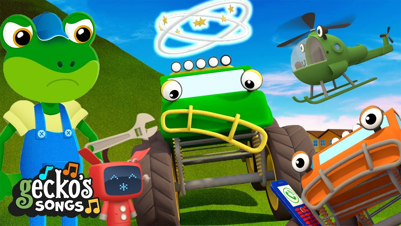 5 Little Monster Trucks' Antics|Gecko's Garage|Truck Cartoon For Kids|Music For Children