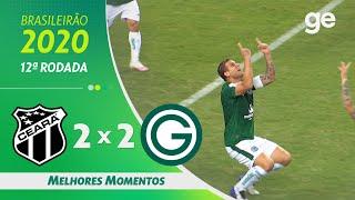 CEARÁ 2 X 2 GOIÁS | MELHORES MOMENTOS | 12ª RODADA BRASILEIRÃO 2020 | ge.globo|ge