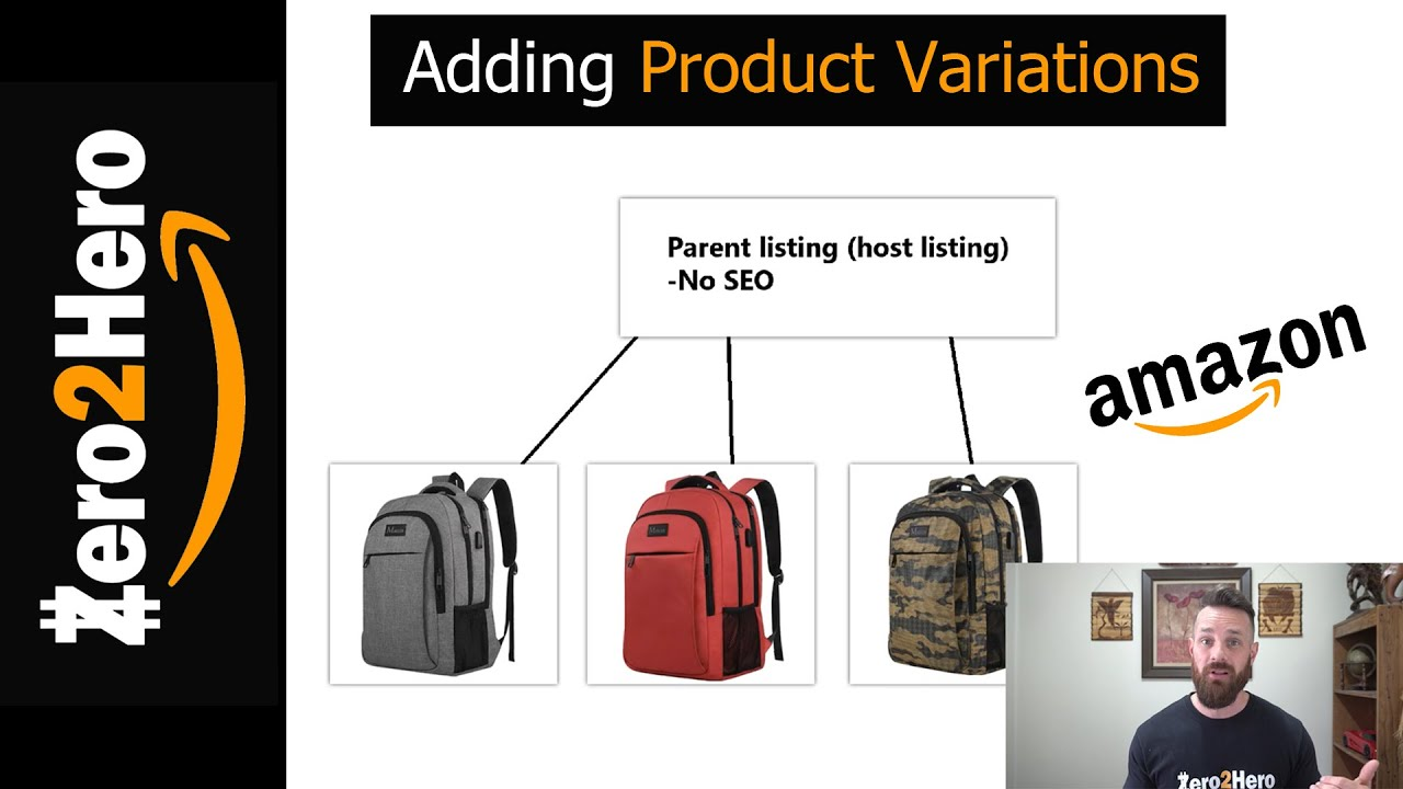 How to add PRODUCT VARIATIONS in Amazon in 5 MINUTES!