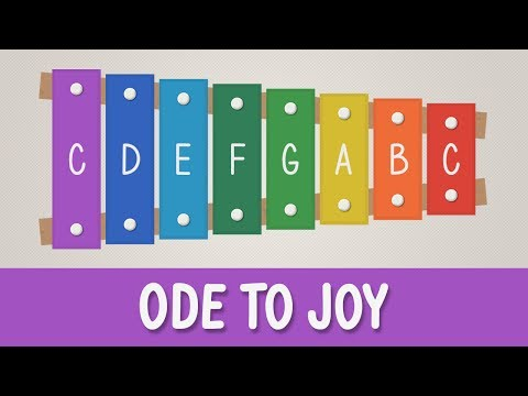 How to play Ode to Joy on a Xylophone - Easy Songs - Tutorial - YOUCANPLAYIT.COM