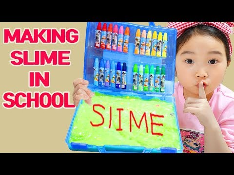 Boram And Ddochi Making Slime In School