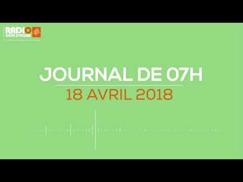 Le journal de 07H00 du 18 avril 2018-Radio Côte d'Ivoire