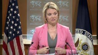 🚨State Department URGENT Press Briefing with Heather Nauert