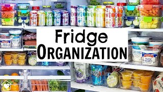 FRIDGE ORGANIZATION in 5 EASY STEPS + Clean & Organize with Me