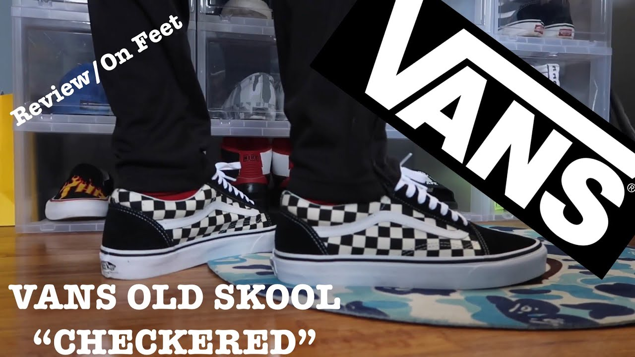 Vans Old Skool Checker On Feet