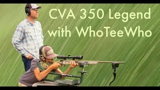 CVA Cascade 350 Legend first look and sighting with WhoTeeWho!!