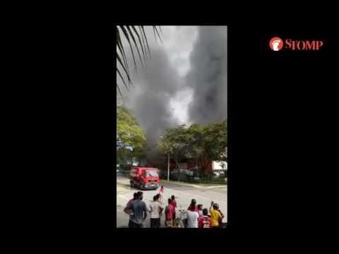 Fire breaks out in building along Tuas Avenue 1