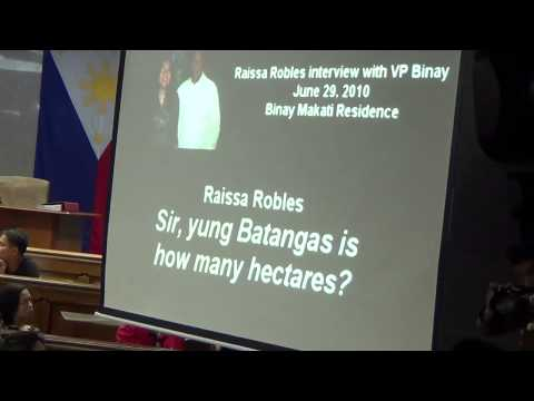 Audio recording of Binay interview on Batangas property bared