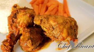 Valentine Roast Dinner Curry Chicken Served With Plain White Rice