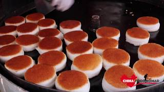 Amazing Chinese Street Food - Crispy Steamed Rice Cake