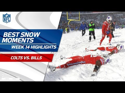Best Snow Moments from Colts vs. Bills | NFL Wk 14 Highlights