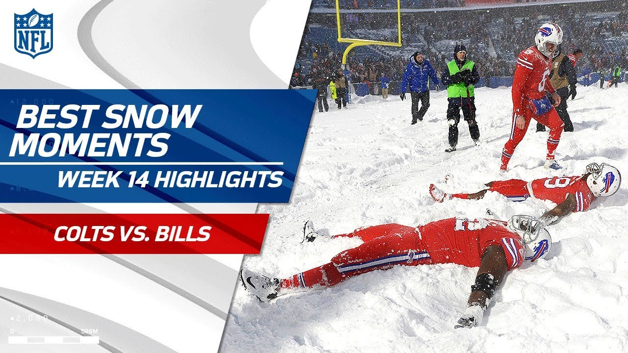 Best Snow Moments From Colts Vs Bills Nfl Wk 14 Highlights Youtube