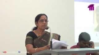 An inspirational speech by Adv. K. Chandrika, Thiruvananthapuram Mayor.