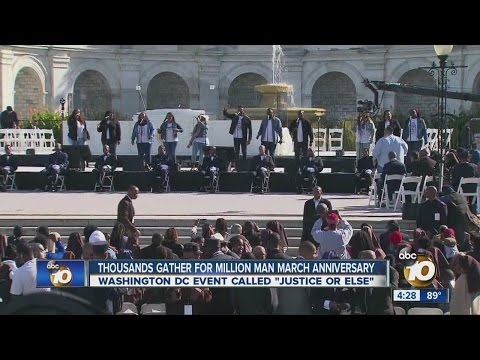 Thousands gather for Million Man March anniversary