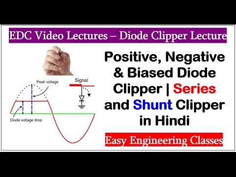 Positive, Negative & Biased Diode Clipper | Series and Shunt Clipper in Hindi