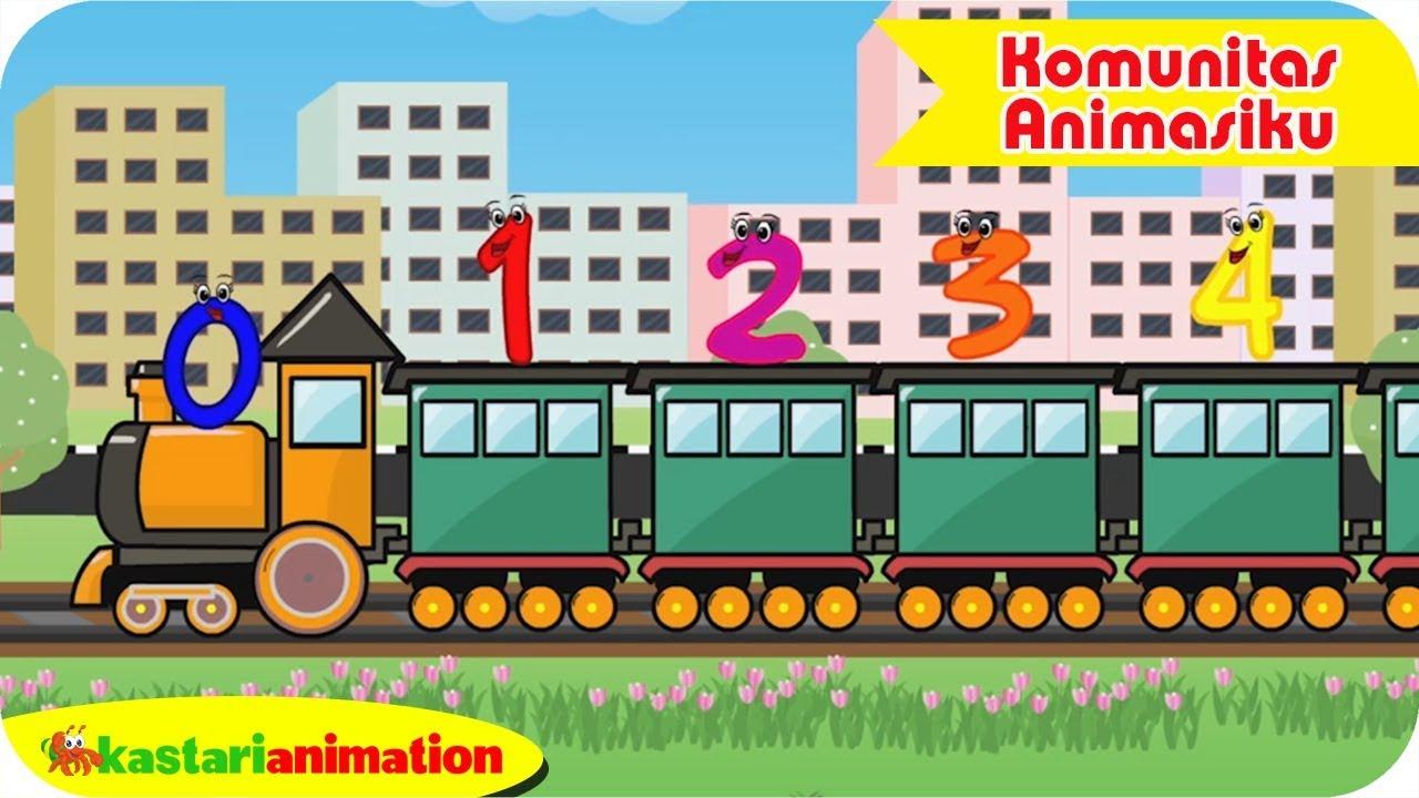 Bermain bersama Kereta Belajar Angka 1 - Komunitas Animasiku | Kastari Animation   Official