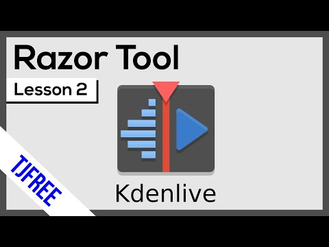 Kdenlive Lesson 2 - Cut/Shorten Video With The Razor Tool