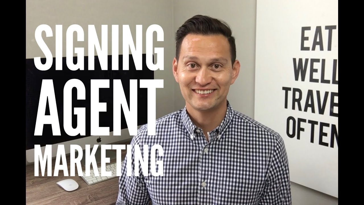 My BEST signing agent MARKETING tip!