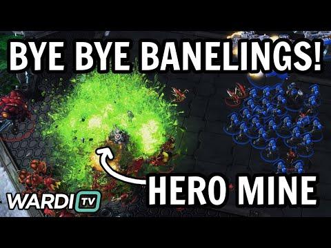 BANELINGS MEET HERO MINE! - Reynor vs Kelazhur - ESL Weekly EU #92 [StarCraft 2]