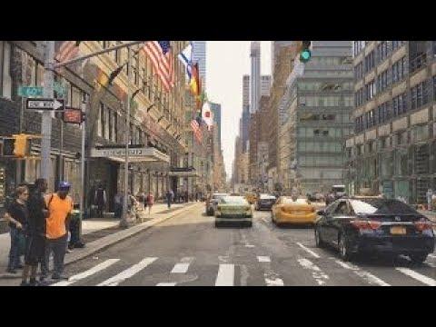 Driving Downtown - Midtown Manhattan - New York City USA