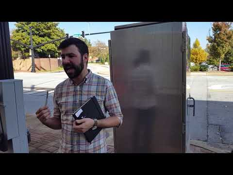 Eric Kocher with HubBub on the Electric Art project on downtown Spartanburg