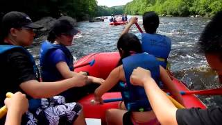 2013 Whitewater rafting at Pocono Mountain on Lehigh river with Whitewater Challengers Video taken b