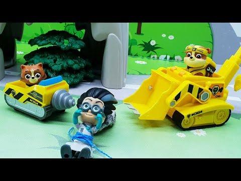 Видео для детей с игрушками Щенячий патруль - Кот спасатель игрушечные мультфильмы 2018 на русском