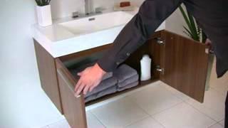 Fresca Vista Teak Wall Mounted Bathroom Vanity W/ Medicine Cabinet & Faucet