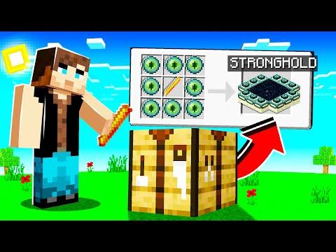 Minecraft mais je peux crafter les structures ( c'est cheat )