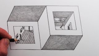 How to Draw an Optical Illusion: Two Cubes