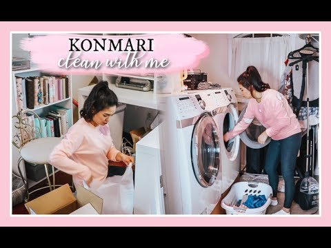 TIDYING UP LIKE MARIE KONDO | CLEAN WITH ME 2019