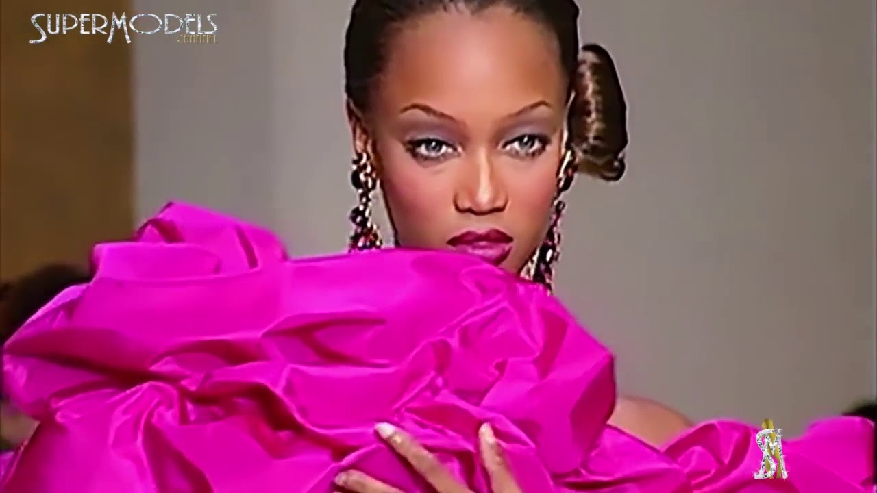 Tyra Banks Best Moments on Catwalk part 1 1992   1995 by SuperModels channel youtube