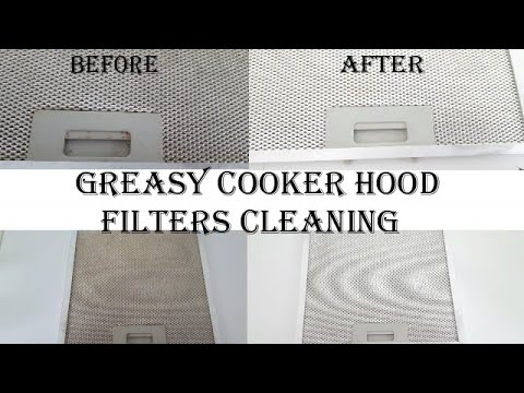 Greasy cooker hood filters cleaning | How to clean cooker hood filters