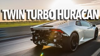 Twin Turbo Lamborghini Huracan Test Drive with John Hennessey