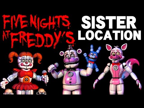 Five Nights at Freddy's Sister Location PART 1 - Blind Gameplay Live Scream - Circus Baby's Pizza!