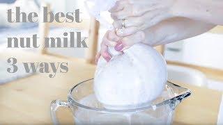 Nut Milk 3 Ways | Vanilla, Cocoa & Golden