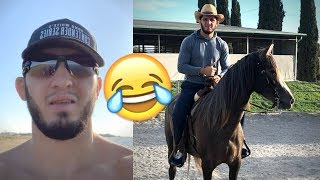 Islam Makhachev Riding Horses After His Fight  | MMA NEWS