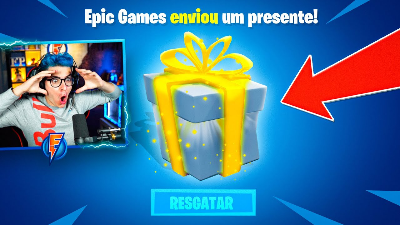 EPIC GAMES ME ENVIOU UMA SKIN EXCLUSIVA NO FORTNITE!!!