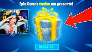 EPIC GAMES ME ENVIOU UMA SKIN EXCLUSIVA NO FORTNITE!!!