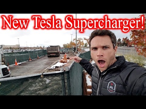 We Found ANOTHER New Tesla Supercharger! Still Under Construction!