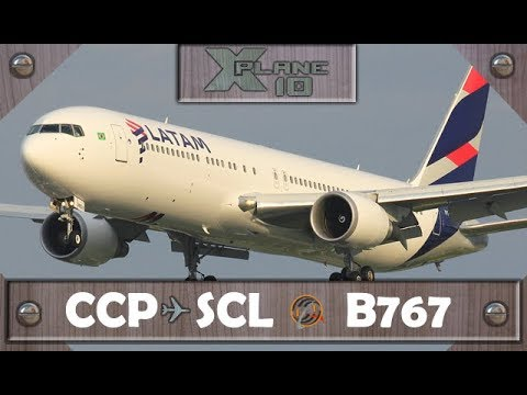 X-Plane 10.50 | Concepción [CCP] to Santiago de Chile [SCL] | LXP214 | B767 [IVAO]