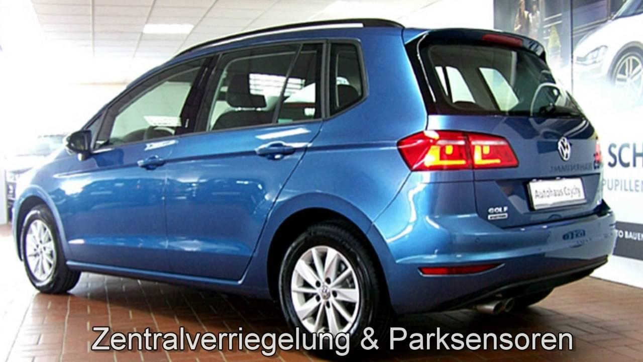 volkswagen golf sportsvan 1 4 tsi dsg comfortline gw555323 pacific blue autohaus czychy youtube. Black Bedroom Furniture Sets. Home Design Ideas