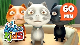 Three Little Kittens - Great Songs With Animals | LooLoo Kids