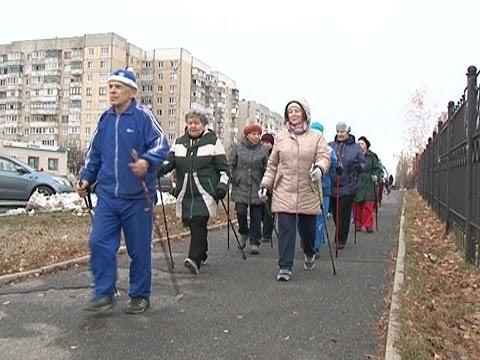 Видео: Фестиваль финской ходьбы в Губкине