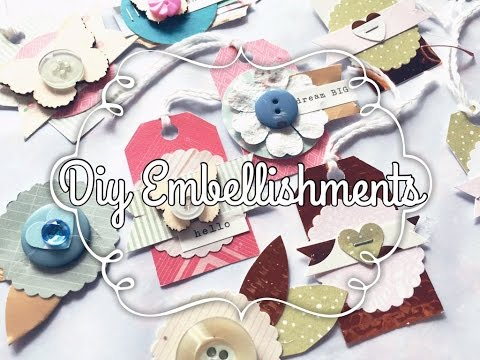 DIY embellishments using Buttons & Paper Punches!! 💖✂️