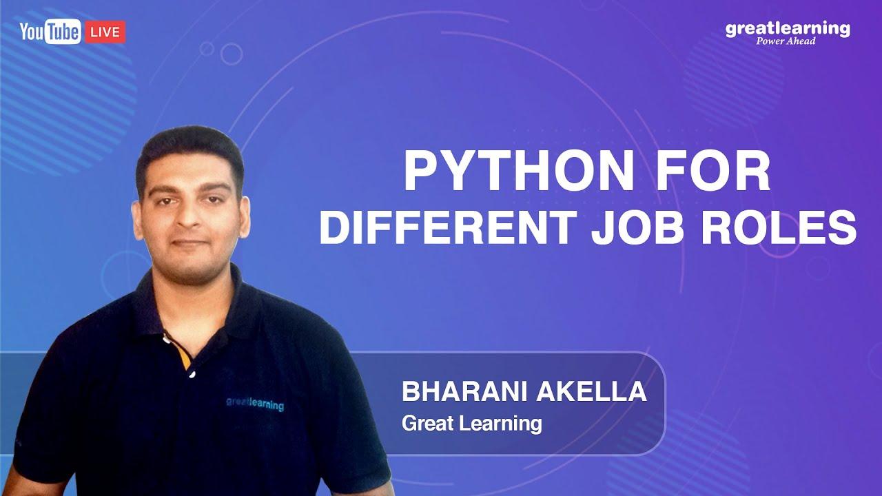Python for Different Job Roles   Application of Python Programming Language