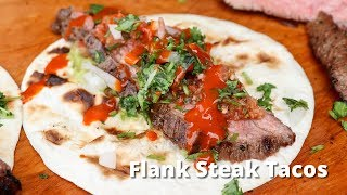 Flank Steak Tacos Recipe | Grilled Flank Steak on Santa Maria Style Grill