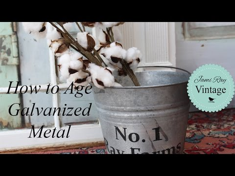 Aging Metal | How To Age Galvanized Metal