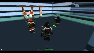 My 2 soldiers on ROBLOX training.