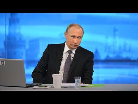 Putin Speaks At Annual 'Direct Line' Q&A In Moscow